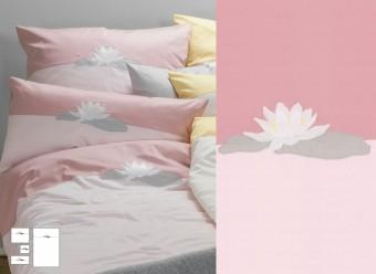 Graser-Bettwäsche-Seerose-rose-malve-Feinsatin