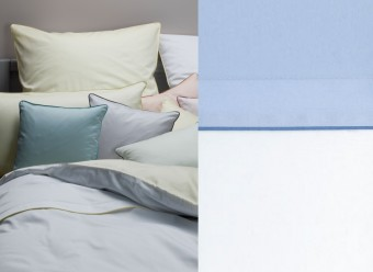 Graser-Bettwäsche-Solo-Mio-Feinsatin-weiß-bleu-friesenblau