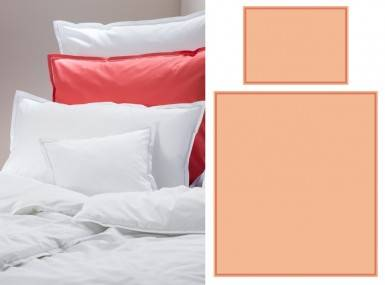 Vorschaubild graser bettwaesche faro satin 5257 apricot-terracotta